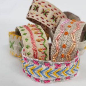 Stitched Christmas Paper Chains